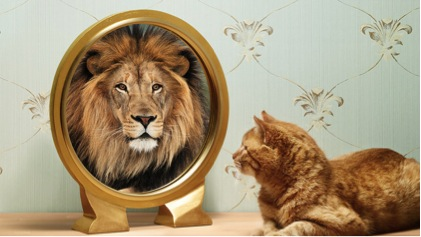 Wat zie jij niet in de spiegel?